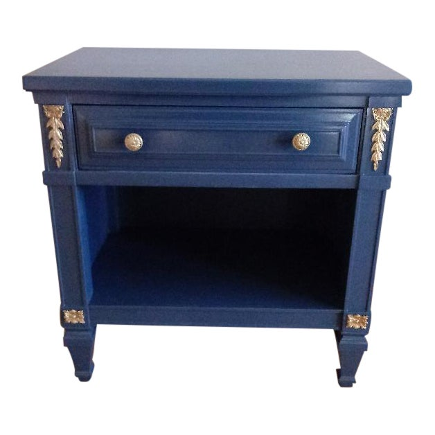 Drexel San Remo High Gloss Blue Nightstand - Image 1 of 6