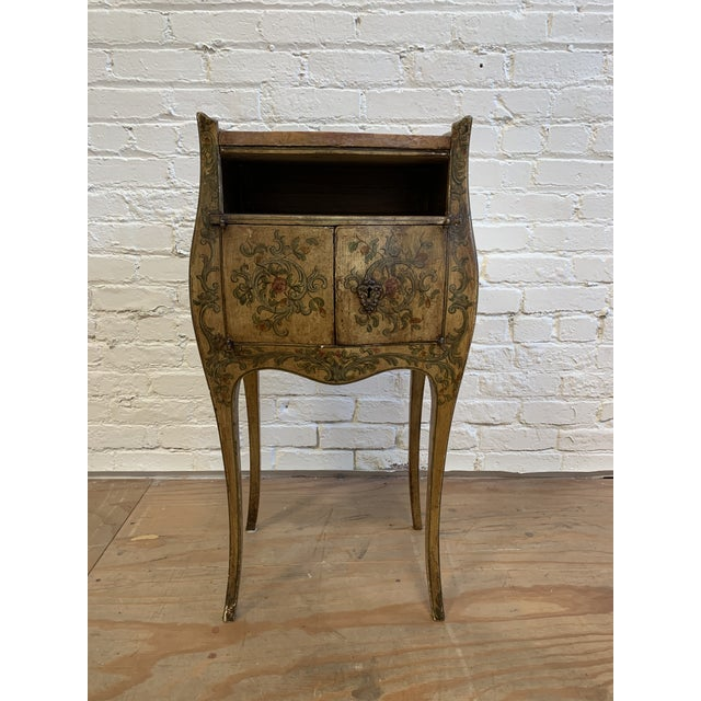 Early 20th-Century French Inspired Hand Painted Side Cabinet + Marble Top For Sale - Image 12 of 12
