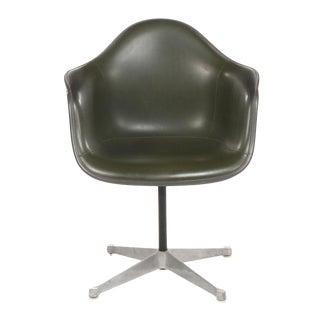1960s Vintage Eames for Herman Miller Upholstered Fiberglass Armchair For Sale
