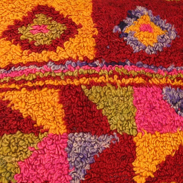 Colorful Boho Chic Tulu Carpet Pillow - Image 2 of 2