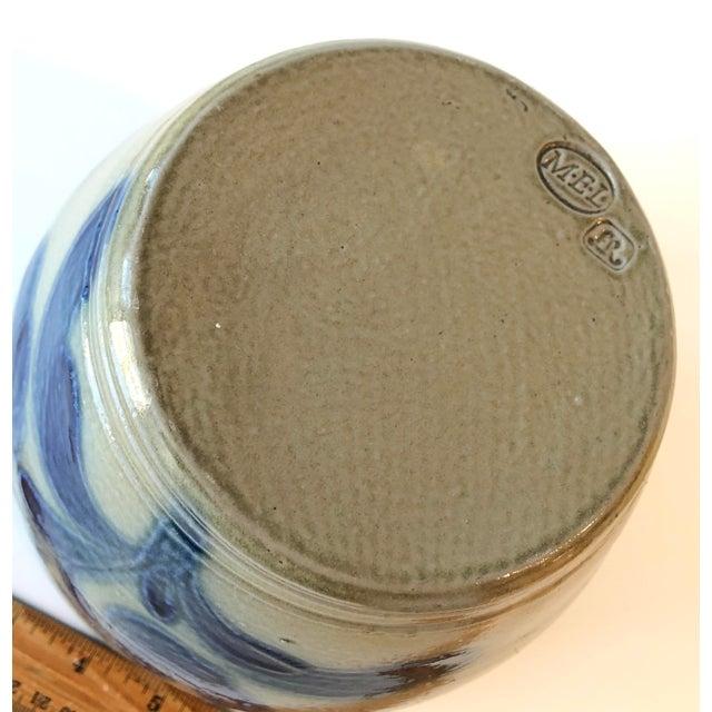 Salt Glazed Mixing or Serving Bowl - Vintage For Sale - Image 12 of 13