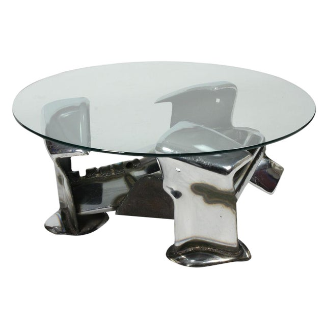 John E. Pendleton Twisted Metal Cocktail Table For Sale