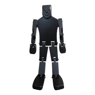 Vintage Black Toy Robot For Sale