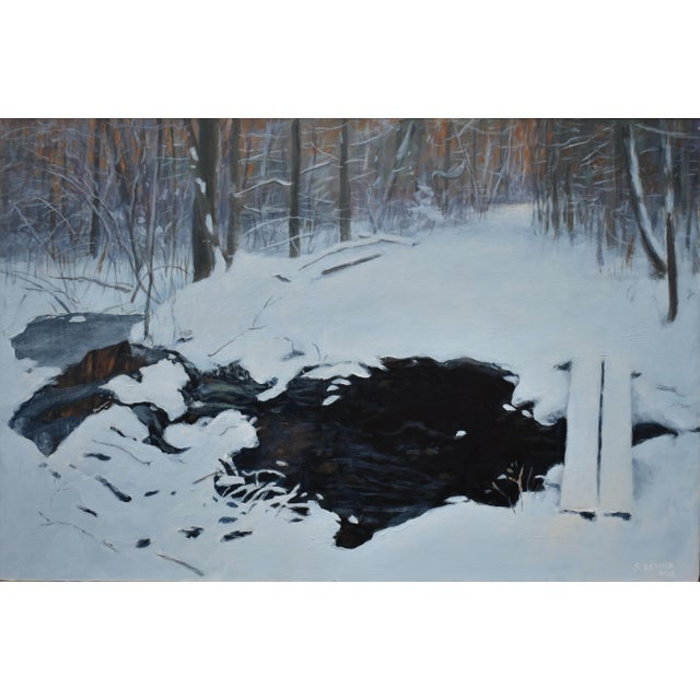 """Stephen Remick """"Crossing Destruction Brook"""" Contemporary Painting For Sale - Image 10 of 12"""
