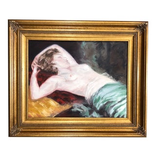 Vintage Nude Female Oil Painting For Sale