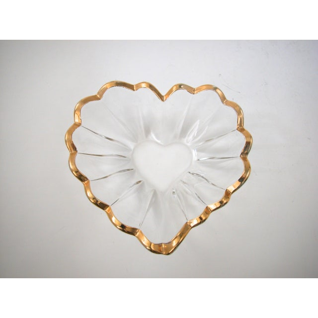Glass and Gold Heart Dish - Image 5 of 9