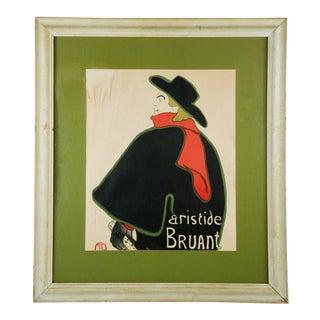"""1893 French Lithograph Print, """"Aristide Bruant Dans Son Cabaret """" by Henri De Toulouse-Lautrec For Sale"""