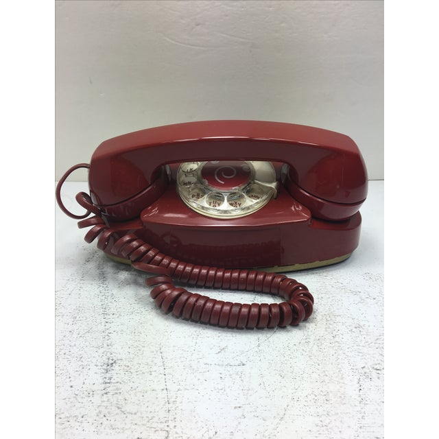 Vintage Red Princess Rotary Dial Telephone - Image 2 of 11