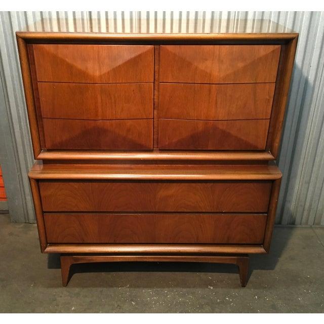Diamond Front Hi-Boy Dresser by United - Image 9 of 9