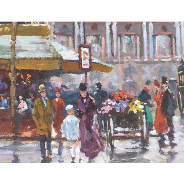 1950s Vintage Francois Gerome Parisian Scene Paintings - A Pair For Sale - Image 10 of 12