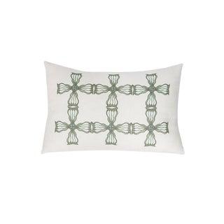 Linen Medallion Accent Pillow For Sale