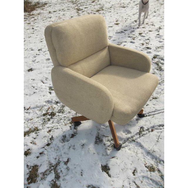 Vintage mid-century Danish Modern office chair by Scandiline. The chair is very heavy and well built. It has a neutral...
