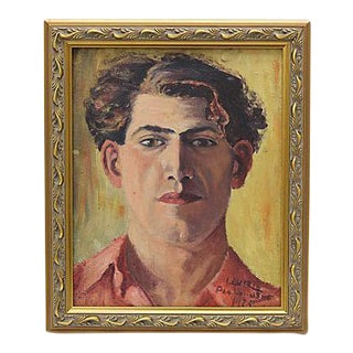 1925 French Oil Portrait of a Man For Sale