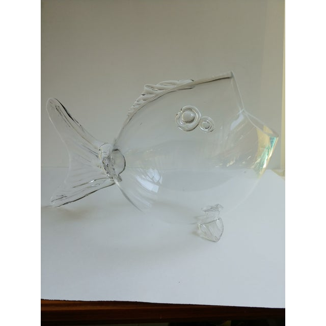 Blenko Blenko Blown Glass Fish For Sale - Image 4 of 4