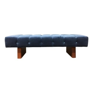 Mid-Century Modern Tufted Bench