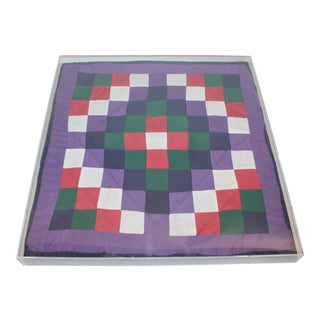 1930s Amish Doll Quilt From Lanc., Pennsylvania, One-Patch For Sale