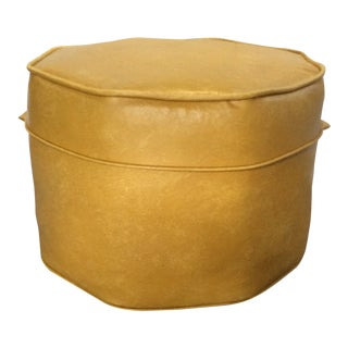 Vintage Gold Octagon Stool For Sale