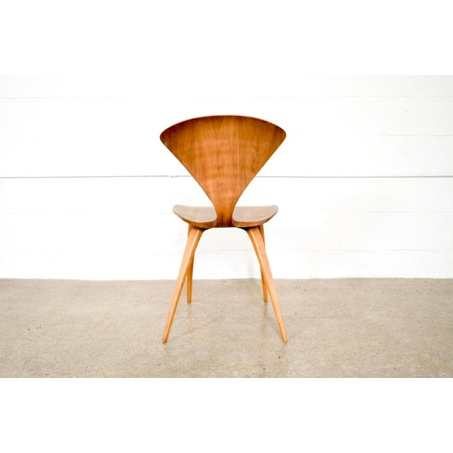 Bentwood Mid Century Norman Cherner Molded Plywood Side Chair For Sale - Image 7 of 11