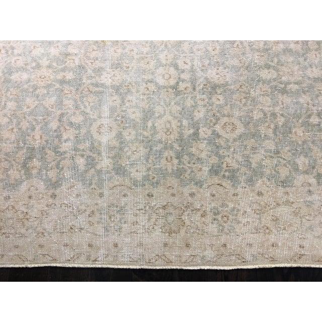 "Vintage Turkish Oushak Distressed Rug- 6'2"" x 9'8"" - Image 3 of 8"
