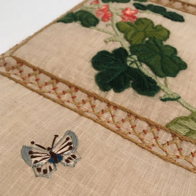 Small Floral Crewelwork Screen For Sale - Image 9 of 13