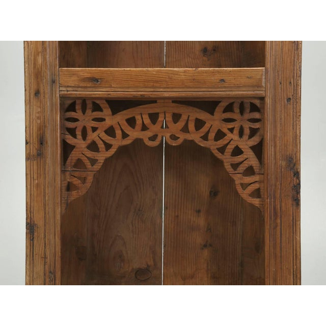 Antique Pine Hanging Shelf Unit, or Open Cupboard For Sale - Image 4 of 9