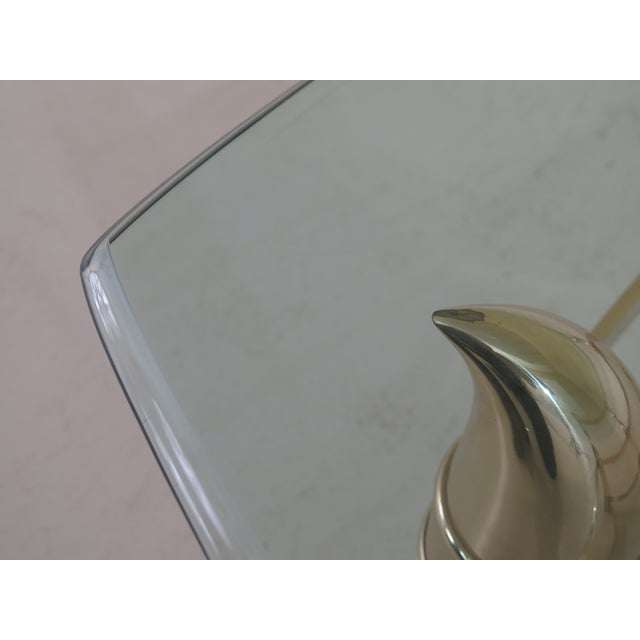 Modern Modern Design Brass & Glass Coffee Table For Sale - Image 3 of 9
