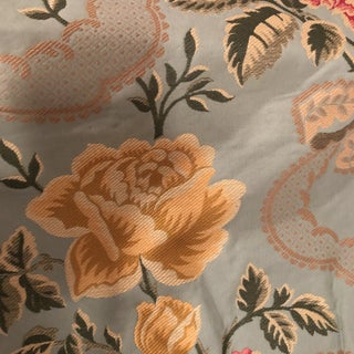 Pier Fray Pastel Bluish Green Floral Fabric For Sale