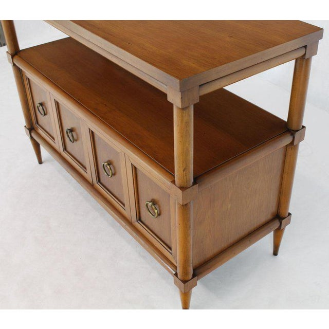 Small Cherry Two Tier Sideboard or Console Hall Table With ...