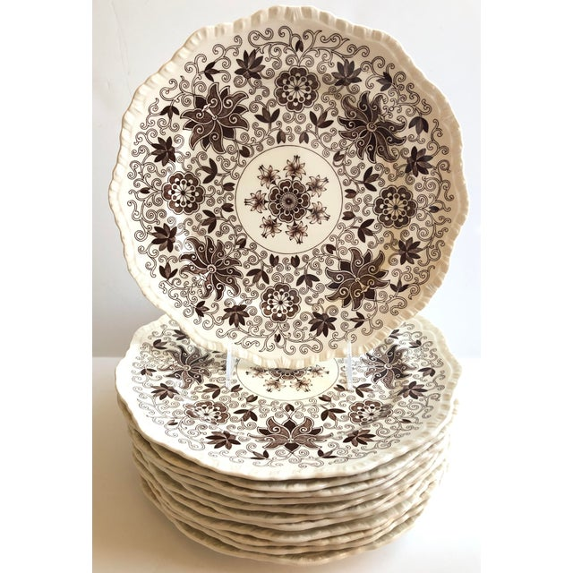 Mason's Bow Bells Dinner Plates - Set of 12 For Sale In San Francisco - Image 6 of 6
