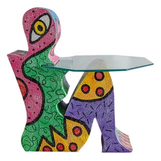 Abstract Pop Art Accent Table For Sale