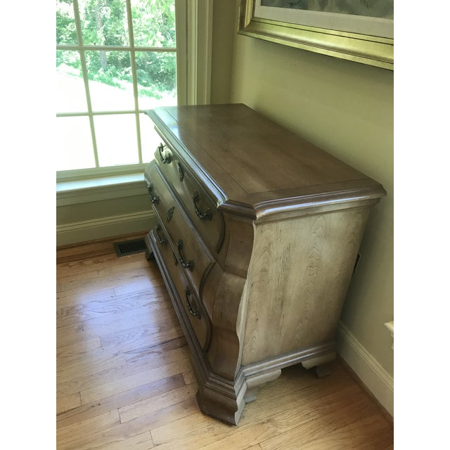 Wood Century Furniture Fruitwood Bombe Chest For Sale - Image 7 of 10