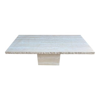 1970s Italian Travertine Dining Table For Sale