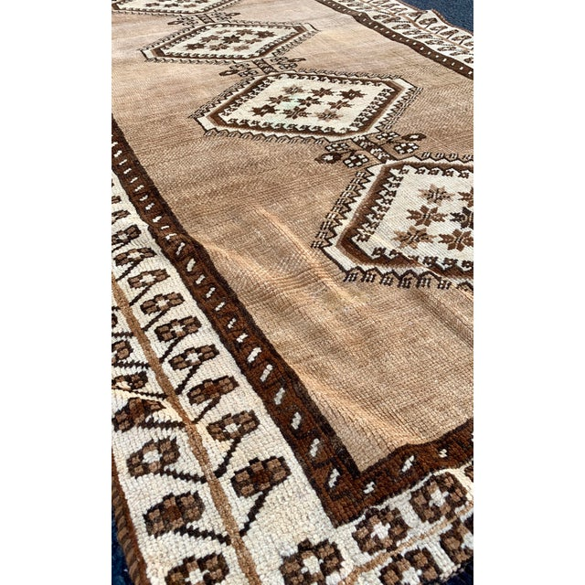 "Abstract 1950's Vintage Persian Gabbeh Area Rug 4'x7'9"" For Sale - Image 3 of 13"