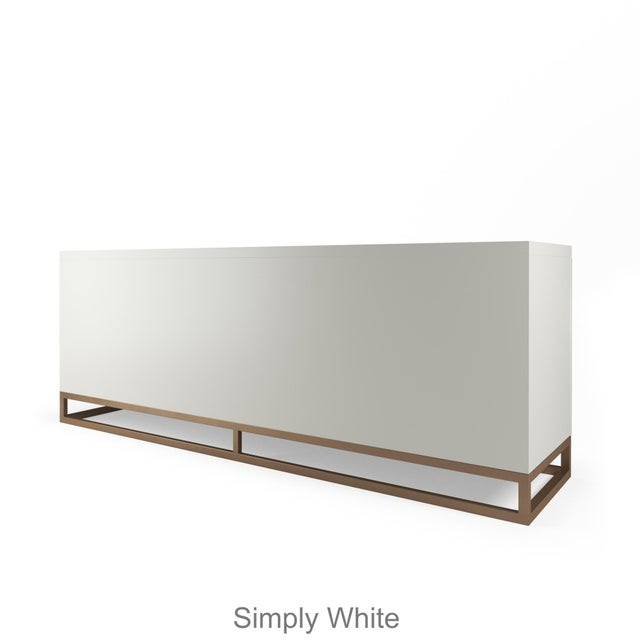 Stria, our sophisticated sideboard, features four beautifully designed geometric doors that open by touch/push latch to...