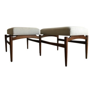 Vintage Mid Century Modern Danish Style Benches a Pair.