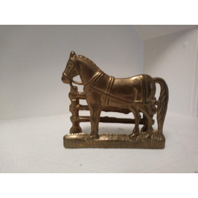Solid brass horse business card holder chairish solid brass horse business card holder image 4 of 4 colourmoves