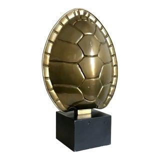 Chapman Brass Finish Tortoise Shell Lamp For Sale