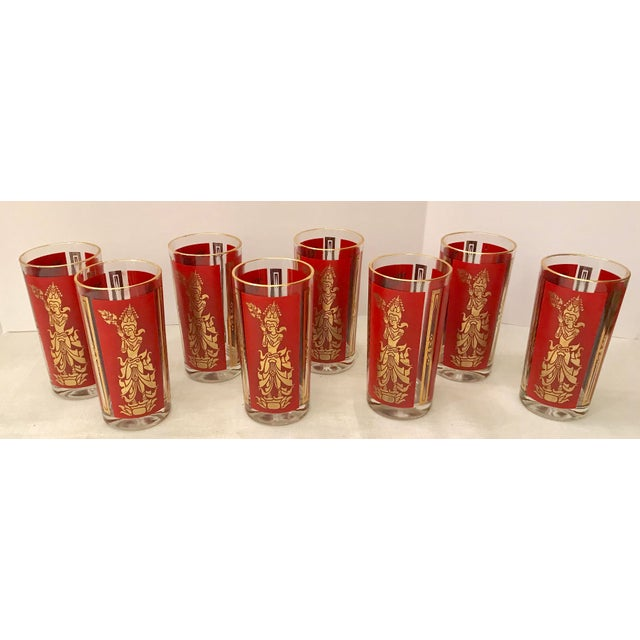 Mid-Century Modern Culver Highball Glasses - Set of 8 For Sale - Image 5 of 10
