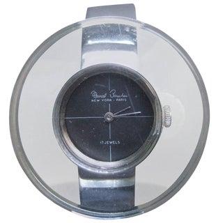 Marcel Boucher Mod Lucite Chrome Wrist Watch Ca 1970 For Sale