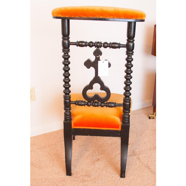 Wood 19th Century French Napoleon III Second Empire Prie-Dieu Prayer Chair For Sale - Image 7 of 9