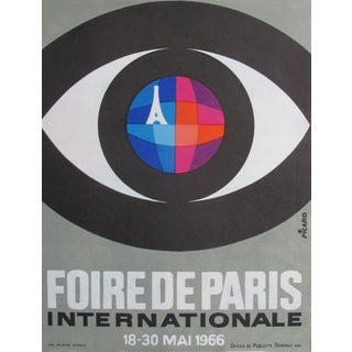 1966 Original Vintage French Poster - Foire De Paris International by Picaro (Small Version) For Sale