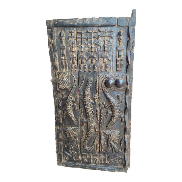 Lg Dogon Door W Crocodiles Mali African 47 5 H Chairish