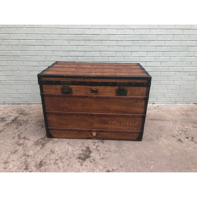 1910s French Louis Vuitton Steamer Trunk For Sale - Image 13 of 13