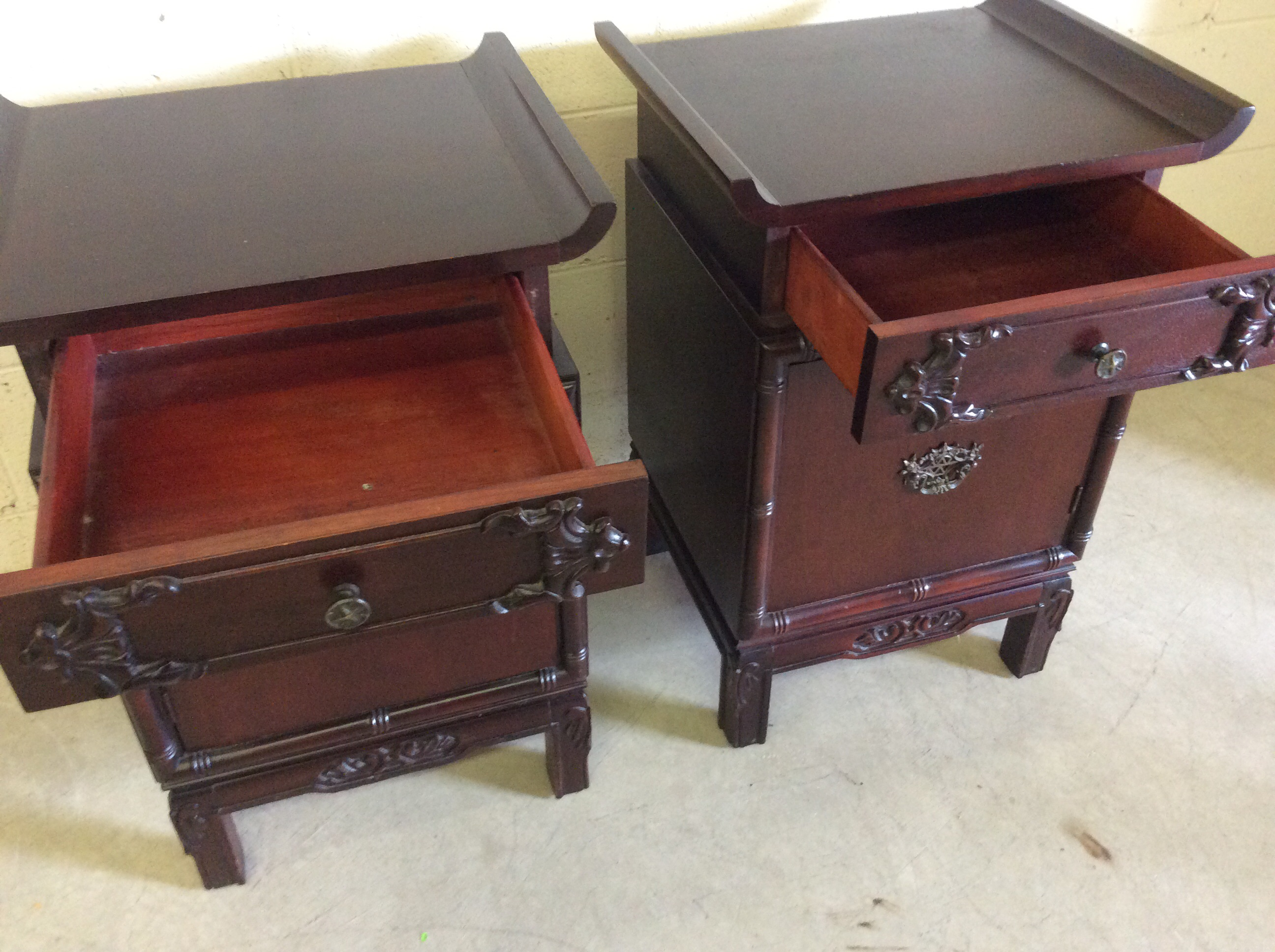 Asian Style End Tables A Pair Chairish