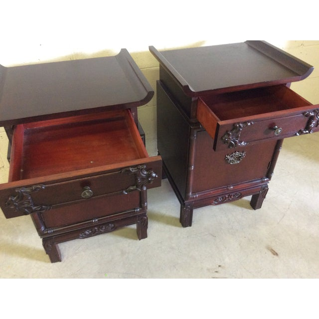 Asian Style End Tables - A Pair For Sale - Image 5 of 8