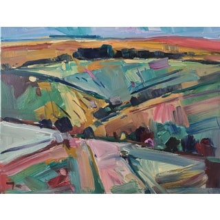 Jose Trujillo Impressionist Hills Modernist Valley Original Artwork For Sale