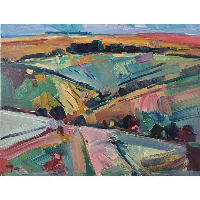 Jose Trujillo Impressionist Hills Modernist Valley Original Artwork For Sale