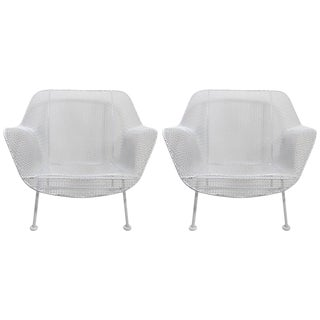 Pair of Woodard Lounge Chairs Freshly Powder Coated For Sale