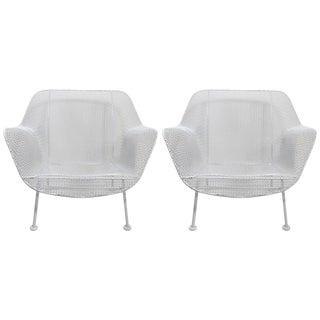 Woodard Lounge Chairs Freshly Powder Coated - a Pair