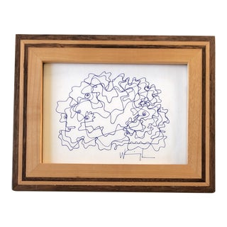 Original Contemporary Wayne Cunningham Abstract Ink Drawing Small For Sale